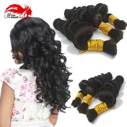 Wholesale Micro Brazilian Hair - 7A Brazilian Hair Bulk Braiding Human mini Braids Braiding Hair Loose Wave No Weft No Attachment Micro Braiding Hair Bulk