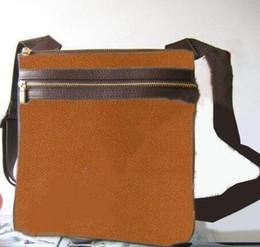 Wholesale mens designer leather messenger bag - Shoulder bag mens MESSENGER bag designer Cross Body Satchel women handbag small pouch black PLAID purse m40044