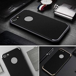 Wholesale Neo Silver - For iPhone 8 shockproof neo armor case carbon fiber hybrid TPU PC 2 in 1 case for iPhone 6 7 plus Samsung S8