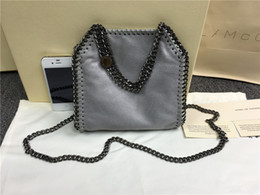 Wholesale Pictures Christmas - 16SS Grey falabella shaggy deer real picture luxury CHAIN BAG Fashion classical luxury lady crossbody shoulder steel chain bag