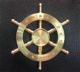 Wholesale Set Steering Wheel - 2017 Boat Rudder Hand Spinner Edc Decompression Toy Helmsman Fidget Spinner Steering Wheel Design Fidget Toy Classic Style