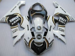 Wholesale Lucky Strike Motorcycle Fairings - New Motorcycle Fairings Kit For Kawasaki ZX6R ZX-6R 05 06 Ninja 636 2005 - 2006 ABS Covers Fairing Cowling Black white lucky strike