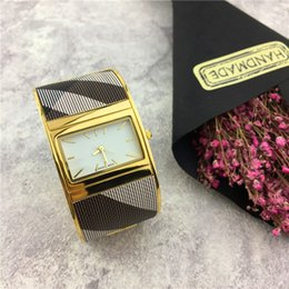 Wholesale Golden Movement - 2017 Hot sale ladies Watch Stainless Leisure bangle watch Golden color belt Japan Movement Classic relogio masculine Special free shipping