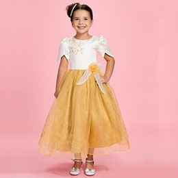 Wholesale Dress Pink Cardigan Flower - Halloween Easter Birthday party First Communion Dresses Embroidery Vestido Casamento New Princess Flower Girl Dresses Organza Cute Cardigan
