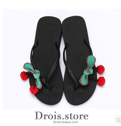 Wholesale Party Cute High Heel - Holiday Slippers New Beach students cute flip beach sweet beach lady with a non slip flat
