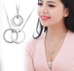 Wholesale Woman Heart Sweater - 2017 cat's eye crystal pendant hip hop jewelry necklace Collarbone chain sweater accessories Necklace for women 170