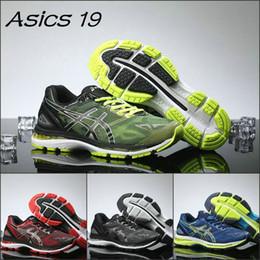 Wholesale Cheap Green Basketball Shoes - 2017 Asics Gel-Nimbus 19 T700N Original Running Shoes Black Green Blue Red Men New Cheap Basketball Shoes Discount Sneakers Eur 40-45