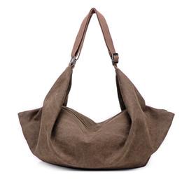 Wholesale Dumplings Shoulder Bags - In the fall of the new women's multi-function canvas dumplings single shoulder bag fashion leisure his laptop bags