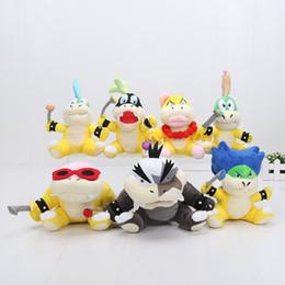 lemmy koopa brinquedos Desconto Super Mario Koopalings Brinquedos De Pelúcia Wendy LARRY IGGY Ludwig Roy Morton Lemmy O. Koopa Pelúcia Brinquedo Macio Boneca de Pelúcia