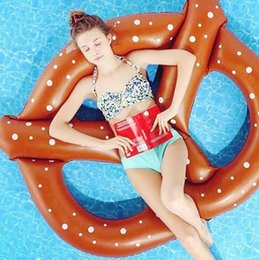 Wholesale Pineapple Bread - Inflatable Flamingo Floats Swimming Pool Toys Bread swan pineapple Floats Swim Ring Inflatable Flamingo Pool Toy Water Toys KKA1512