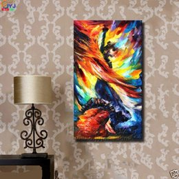 Wholesale Dancers Wall Decor - Framed Dancer,Pure Hand Painted Modern Huge Abstract Wall Decor Art Oil Painting On High Quality Canvas.Multi customized sizes Ab005