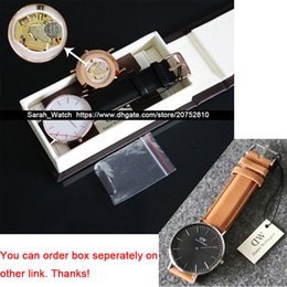 Wholesale Women Brown Watch - Best Quality 36mm & 40mm Classic Men Women Watch Leather   Nylon   Metal Strap Watch in one link