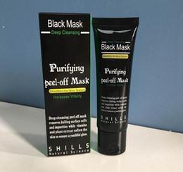 nez gras Promotion Masque noir Démaquillant des points noirs d'aspiration Masque facial en collagène 50 ml Démaquillant purifiant en profondeur Masque facial noir Masques Peel