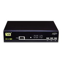 Wholesale Tv Box Dvb Wifi - Freesat V8 Super DVB-S2 Satellite TV Receiver Support PowerVu Biss Key Cccamd Newcamd Youtube USB Wifi Set Top Box VS MXQ Pro