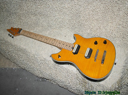 Wholesale Cheap Guitars China - Yellow Flame Top Electric Guitar New Arrival China Guitars Maple Fingerboard OEM Cheap