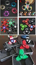 Wholesale Avenger Toys - Newest Fidget Spinner Metal The Hulk Captain America The Avenger Hand Spinner Zinc Alloy Spinner EDC Autism ADHD Finger Gyro Toy Adult Gifts