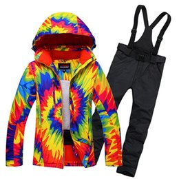 Wholesale Ladies Snow Suits - Wholesale- Womens Snowboard Snow Suit Ladies Ski Jacket and Trousers Waterproof Breathale Thermal Windproof Female Skiing Clothing