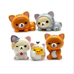 Wholesale Cheese Cat Toy - Super-easy bear lazy bear how to eat chicken cosplay cheese cat do hand DIY landscape landscape gardening DIY crafts