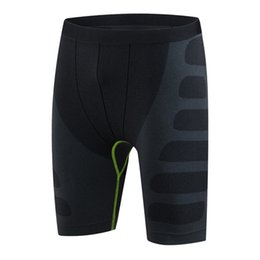 Wholesale Men Shorts Pants Legging - Wholesale-Men Legging Shorts Bodybuilding Compression Breathable Stretch Quick Drying Pro Tight Male Short Pants