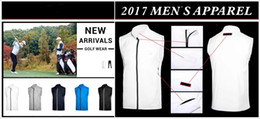 Wholesale Men S Sleeveless Jackets - 2017 Ti golf vest supper thin sleeveless sports wind proof jacket 5 colors OEM available