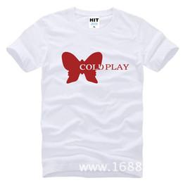 Wholesale Play Rock - Fashion Cold Play T Shirt Short Sleeve Cotton Rock Band Coldplay T-shirt Tees Camisetas Hombre Free Shipping SL-506