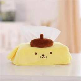 Wholesale Wholesale Toilet Paper Free Shipping - Wholesale- Yellow Cartoon Design Tissue Napkin Cases Toilet Paper Holder Plush Tissue Box Animal Shaped 2016 Home Decoration Free Shipping