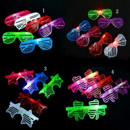 Wholesale Shutter Glow - Light LED Glasses Shutter Star Heart Shaped Bright Light Party Glasses Club Bar Performance Glow Party DJ Dance Eyeglasses OOA2480