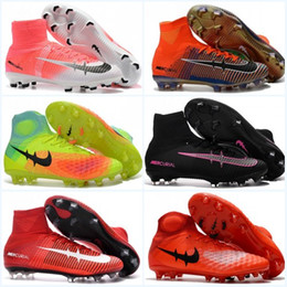 Wholesale Shoes Eva Kids Boy - Mens Football Boots CR7 Mercurial Superfly IV V FG Soccer Shoes Cristiano Youth Boys Magista obra II Soccer Cleats kids ACE 16 Purecontrol