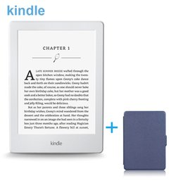 Wholesale E Books Readers Kindle - Wholesale- New Kindle 6-inch e-Book Readers Wihte Version Touchscreen Display, Wi-Fi 4GB Electronic Book With Blue Cover New Year Gift