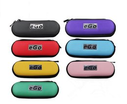 Wholesale Ego T Carry Case - EGO Electronic cigarette Zipper box case bag package with Zipper carrying for E cig Joye eGo-T ego--tank E-cigarette