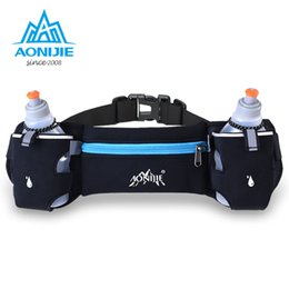 Wholesale Fanny Pack Water Bottle - Wholesale- AONIJIE Running Hydration Belt Bag Waist Pack Bottle Holder + 2pcs 250ml Water Bottles Sport Bag Men Women Fanny Pack