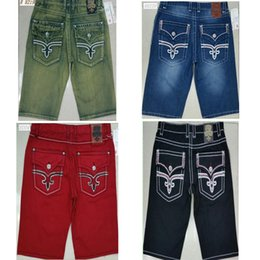 Wholesale Men England Coat - Mens Summer Shorts Robin Denim Shorts Jeans Famous Designs Fashion Style Rock Revival Jeans Pants New Arrivial