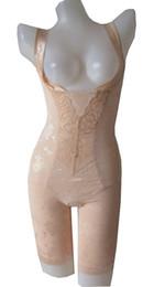 Wholesale Body Shaper Leotard - Wholesale- 2016 Latex Waist Cincher Full Body Shaper Womens Slimming Bodysuit Waist Sexy Plus Shapewear Hot Shapers Leotard