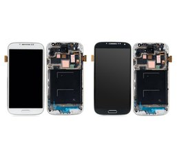 Wholesale Galaxy S4 Digitizer Assembly - Grade AAA For Samsung Galaxy S4 9500 9505 I545 I337 M919 L720 Lcd Digitizer Display Screen Assembly Blue or white with Frame Free DHL