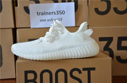 Wholesale Size New - Ultraviolet light man shoes SPLY 350 v2 Boost 350V2 With Box 2017 NEW all white Running Shoes Sneakers 350 Boost V2 woman man shoes size 48