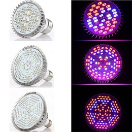 Wholesale Red Led E27 - E27 30W 50W 80W Led Grow Light full spectrum AC85-265V Leds Hydroponic Plant Indor Grow Lights LED Bulb LED Growth Lamp