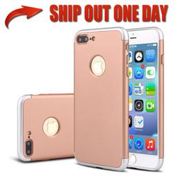 2019 cubierta del caso para el iphone 6splus de la manzana Para iPhone 7 7Plus 3 en 1 combo caja del teléfono de plástico duro híbrido de lujo a prueba de golpes armadura cubierta a prueba de golpes para iphone 6s 6splus 5 s