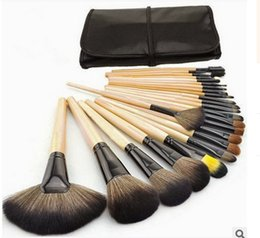 Wholesale 24 Pcs Makeup Brushes - 24 PCS Makeup Brushes with Black Pouch Face Eye Shadow Eyeliner Lip Makeup Brush Set Cosmetic Brushes for Makeup