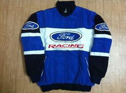 Wholesale Ford Buttons - FIA Formula 1 word Road Racing Cotton Jackets GSN NASCAR Motorcycle Racing Jacket for ford gsv kawasaki ngk Car Racing Team jackets