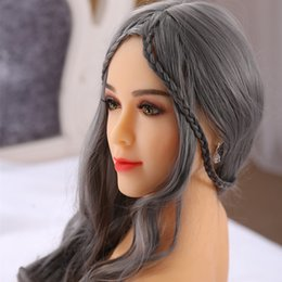 Wholesale Toy Vagina Male Masturbation - 158cm 165cm Sex Dolls Real Silicone Love Dolls Lifelike Breasts Vagina Anal Metal Skeleton Male Masturbation Adult Toy Free Shipping