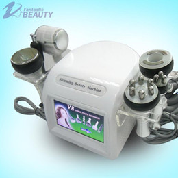 Wholesale Machines For Fat Cellulite - 6in1 Ultrasonic Cellulite Removal Machine for Fat Reduction Body Shaping Face Lifting Liposuction Cavitation Slimming Tripolar RF Beauty