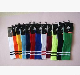 Wholesale Stocking Football Socks - Unisex Kids Children Student Boys Girls Soccer Socks Thick Cotton Knee High Long Stocking Sports Football Socks