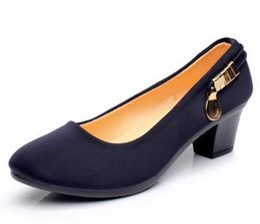 Office Lady Career Shoes Punta Redonda Tacones Gruesos Mujeres Bombas Mary Janes Peso Ligero Cómodo Mujeres Zapatos de Baile Tamaño 35-40 desde fabricantes