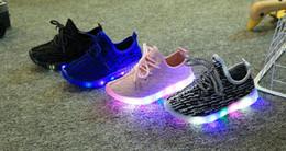 Wholesale Girls Black School Shoes - Children's Shoes Mesh Breathable Sport Led Sneakers Teenager Girls Running Shoes School Girls Sneakers European shoe size:21-35