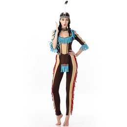Wholesale Indian Women Costume - The Indians Role Play Cosplay Costumes The Clothing Adult Women Clothing Free Size Polyester Fiber The Stage Clothing