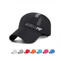 Wholesale H Hat - New arrival 2017 spring and summer new men's speed dry hat fashion leisure outdoor baseball cap breathable letter ladies net h M124 with box