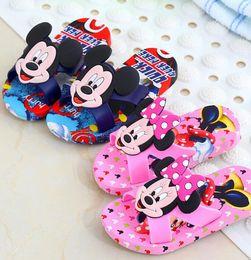 Wholesale Boy Shoes Flip Flop - Kids Beach Flip-Flops Girls Minnie Sandles Boys Cool Mouse Slipper Cartoon Slippers Summer Shoes Casual Slippers Sandalias KKA1664