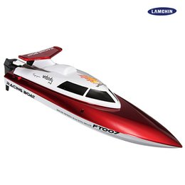 Wholesale High Electric Motor - FT007 2.4G 4CH High Speed Racing Flipped RC Boat Remote Control Speedboat Water Cooling with Speed 25KM H