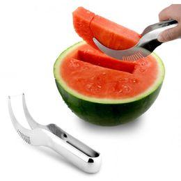 Prezzo del coltello caldo online-all'ingrosso buon prezzo shiping libero voce calda in acciaio inox Watermelon affettatrice coltello Corer Melon Baller Cutter Server