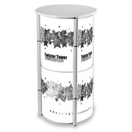 Canada Compteur d'affichage en spirale portatif avec la structure en aluminium de torsion Imprimé couverture de lentille de PVC Panneau en bois facile de sac de transport Offre
